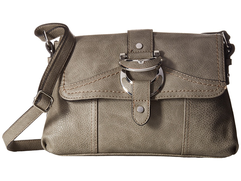 b.o.c. - Morley East/West Flap Crossbody (Charcoal) Cross Body Handbags