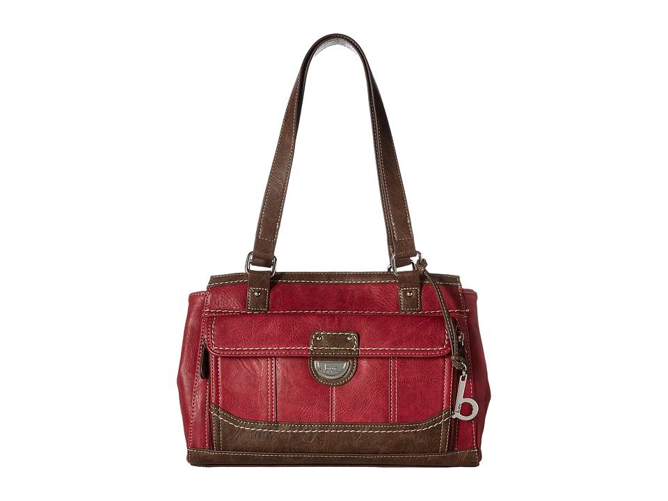 b.o.c. - Doyleton Organizer Tote (Burgundy/Chocolate) Tote Handbags