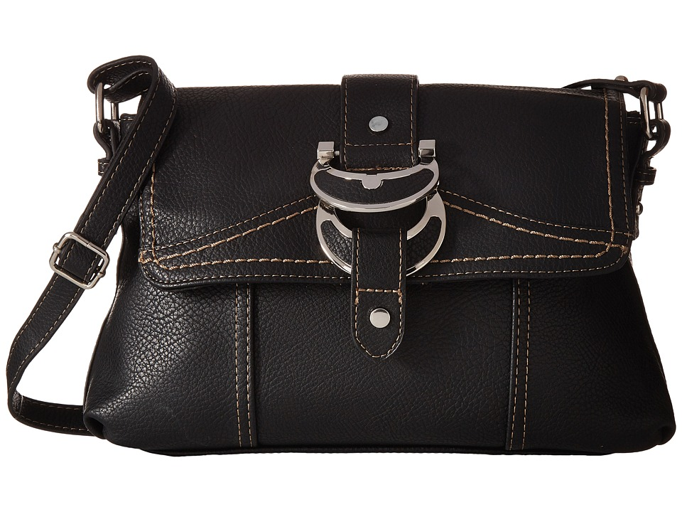 b.o.c. - Morley East/West Flap Crossbody (Black) Cross Body Handbags