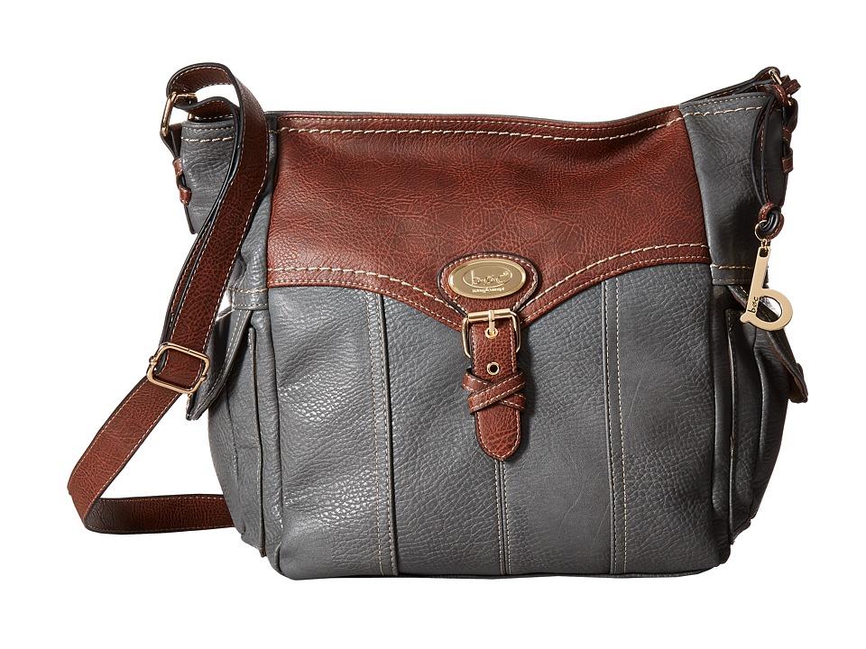 b.o.c. - Danford Crossbody (Charcoal/Chocolate) Cross Body Handbags