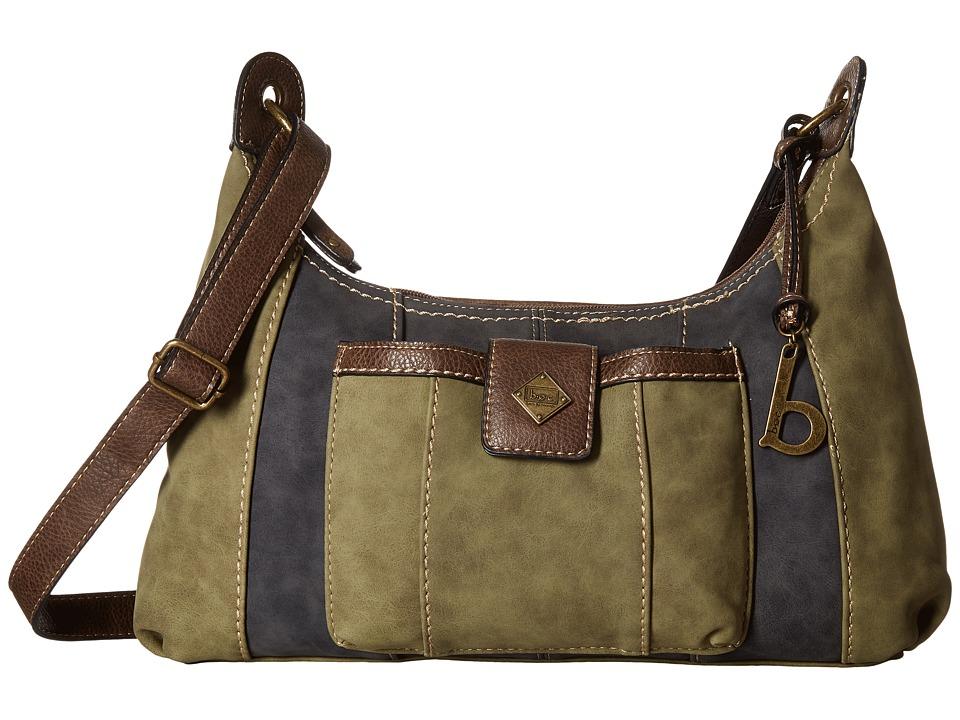 b.o.c. - Montville Crossbody (Olive/Charcoal/Chocolate) Cross Body Handbags