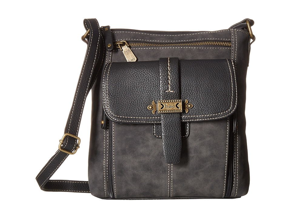 b.o.c. - Finley Organizer Crossbody (Charcoal) Cross Body Handbags