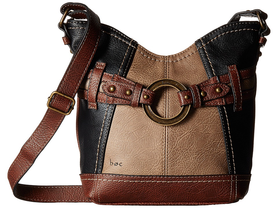 b.o.c. - Brimfield Crossbody (Black/Mink/Walnut 1) Cross Body Handbags
