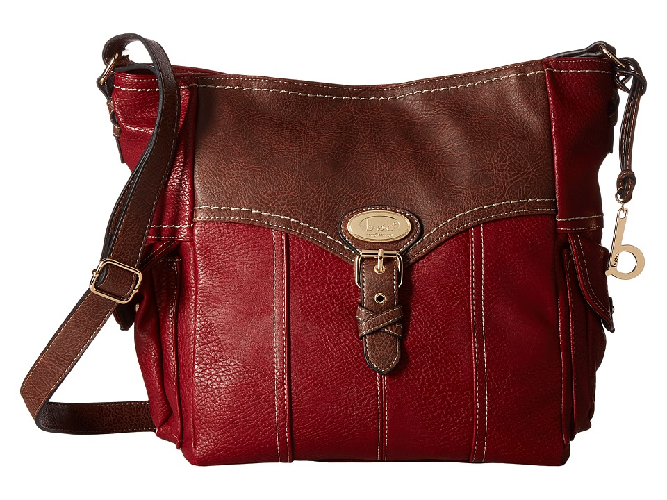 b.o.c. - Danford Crossbody (Burgundy/Chocolate) Cross Body Handbags