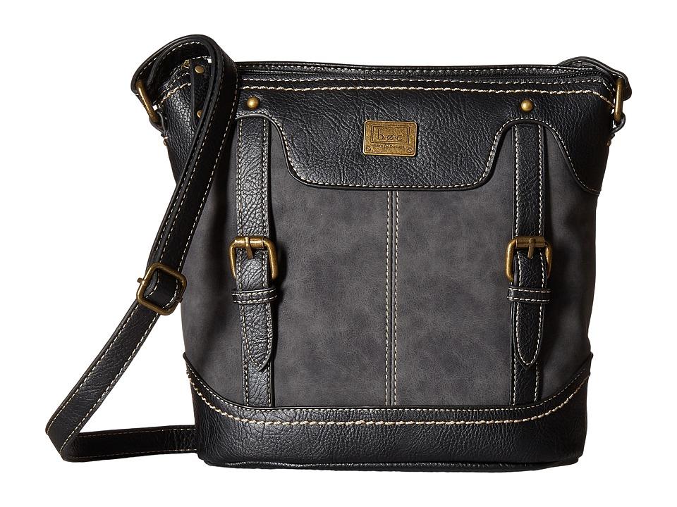 b.o.c. - Copeland Crossbody (Charcoal/Black) Cross Body Handbags