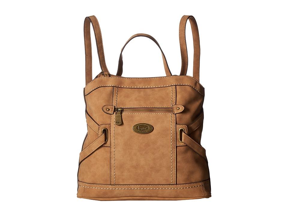 b.o.c. - Park Slope Nubuck Backpack (Saddle) Backpack Bags