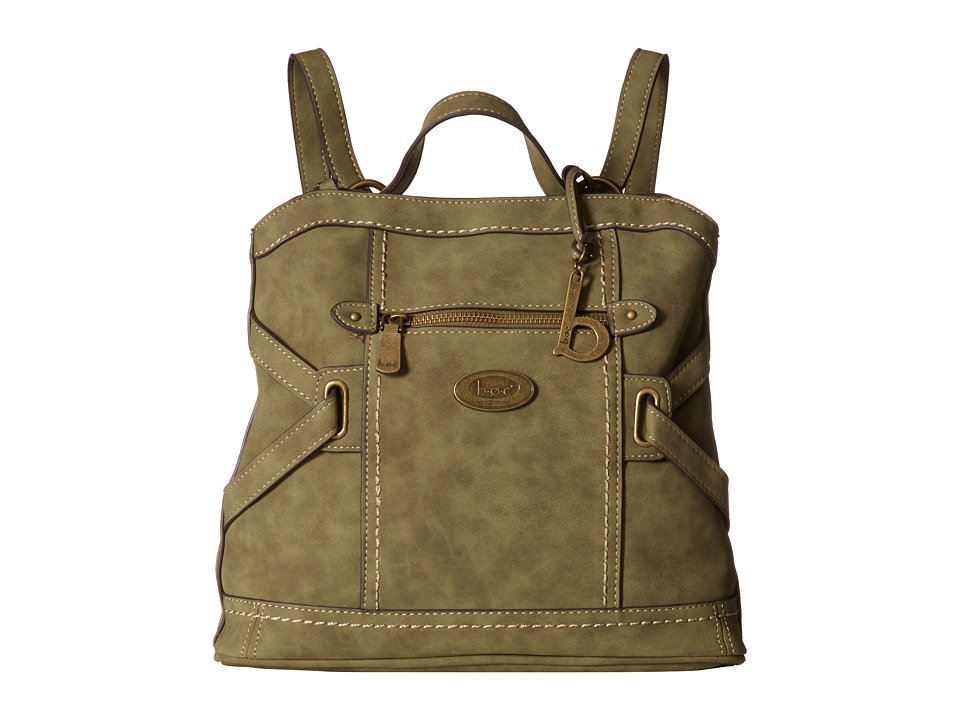 b.o.c. - Park Slope Nubuck Backpack (Olive) Backpack Bags