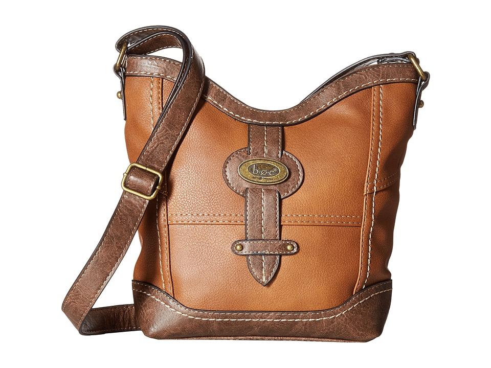 b.o.c. - Prescott Crossbody PB (Saddle/Chocolate) Handbags
