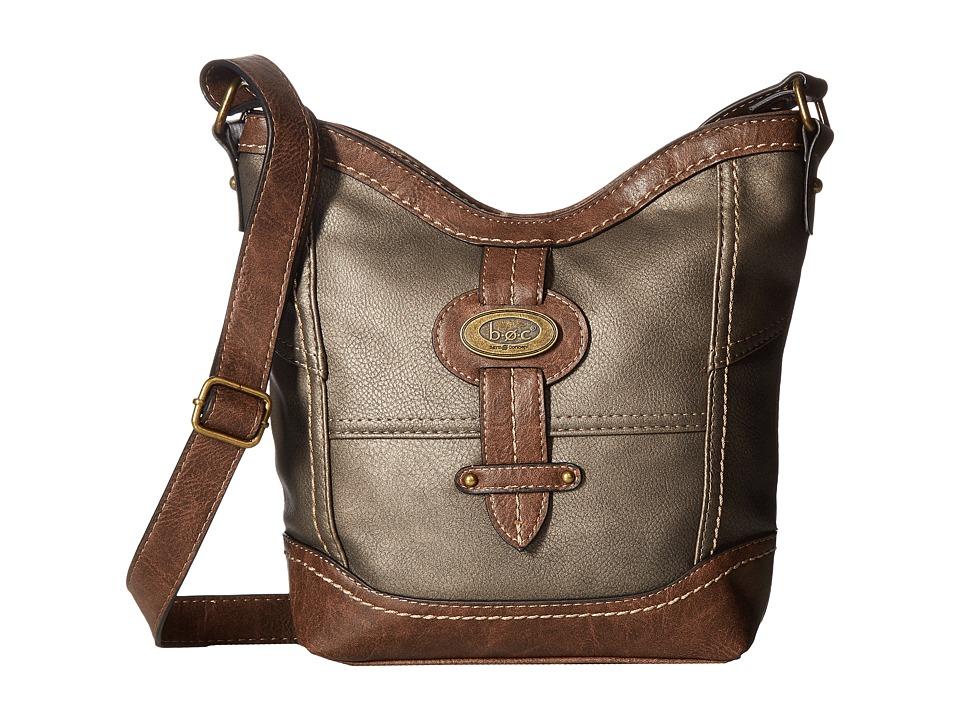 b.o.c. - Prescott Crossbody PB (Pewter/Chocolate) Handbags