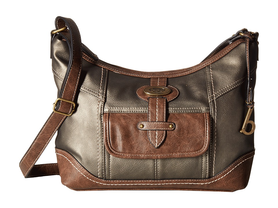 b.o.c. - Prescott Crossbody PB (Pewter/Chocolate) Handbags