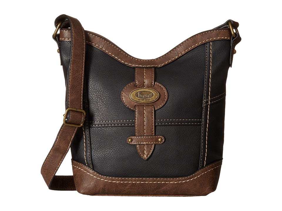 b.o.c. - Prescott Crossbody PB (Black/Chocolate) Handbags