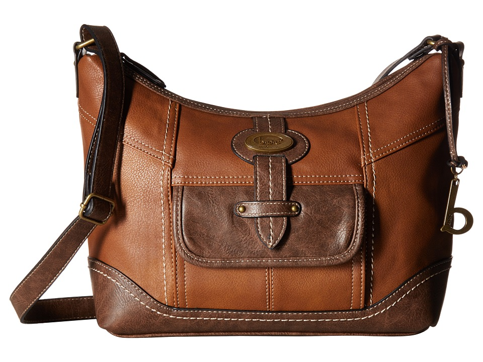 b.o.c. - Prescott Crossbody PB (Saddle/Chocolate) Handbags