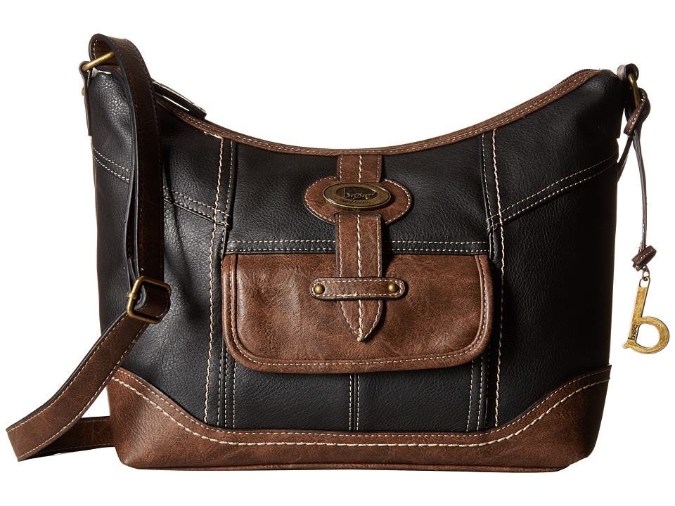 b.o.c. - Prescott Crossbody PB (Black/Chocolate) Handbags