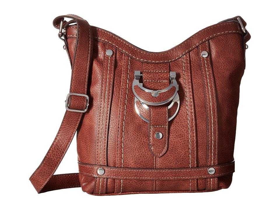 b.o.c. - Morley Crossbody (Cognac) Cross Body Handbags