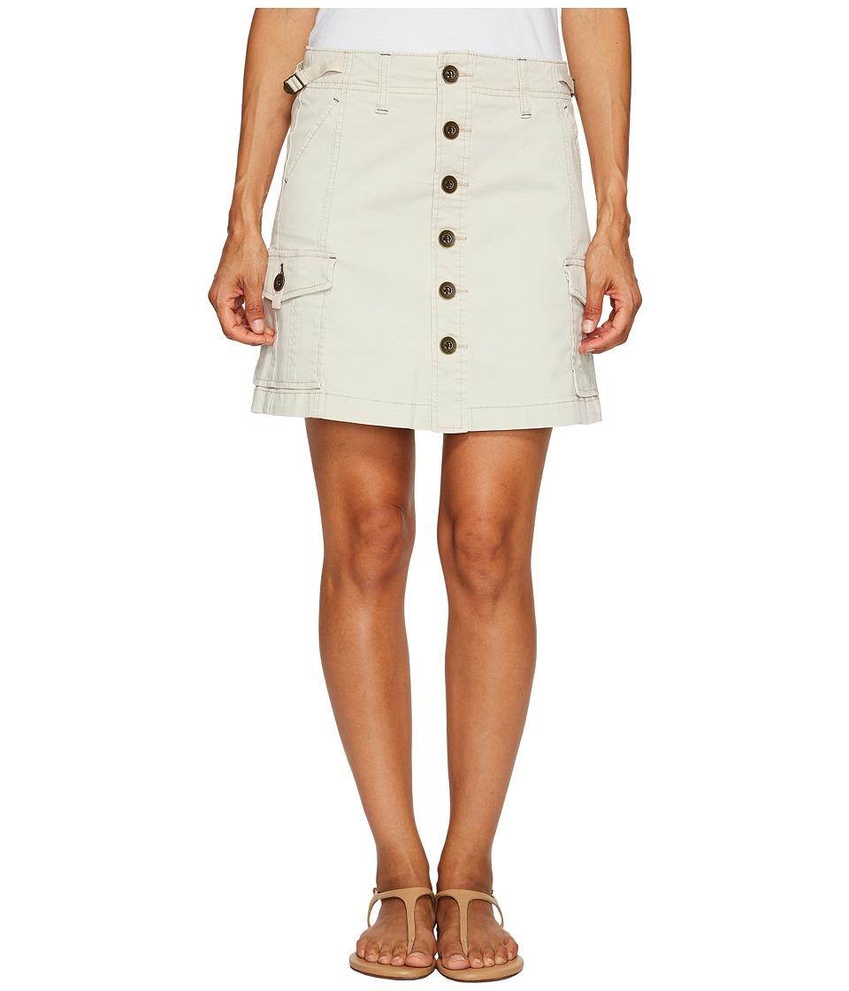 Jag Jeans Petite Petite Boardwalk Skirt in Divine Twill (Stone) Women