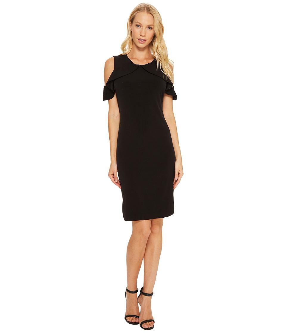 Calvin Klein Cold Shoulder Flutter Dress