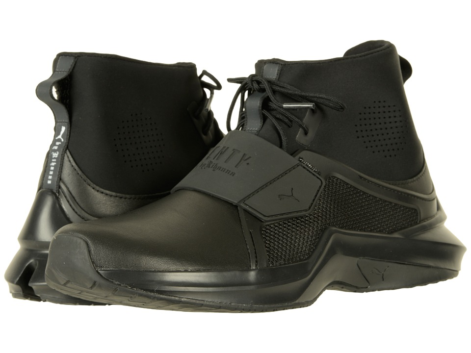 PUMA - The Trainer Hi by Fenty (Black/Black) Women's Shoes