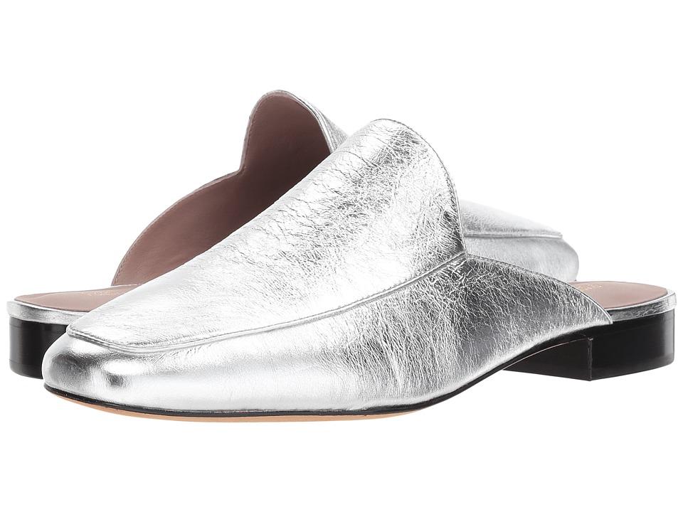 Diane von Furstenberg Lexington (Metallic Silver Cracked Leather) Women