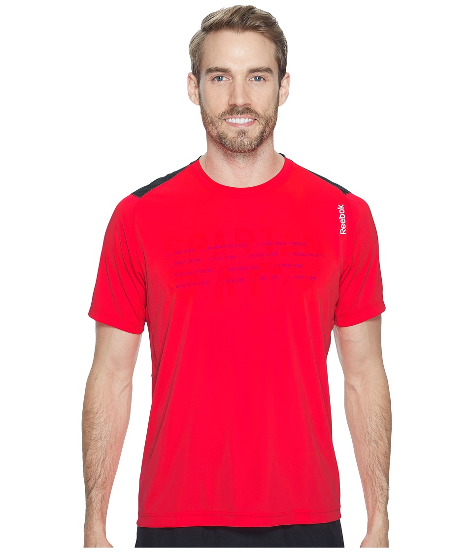 Reebok - Running Tech Tee Shirt (Neon Cherry) Men's T Shirt