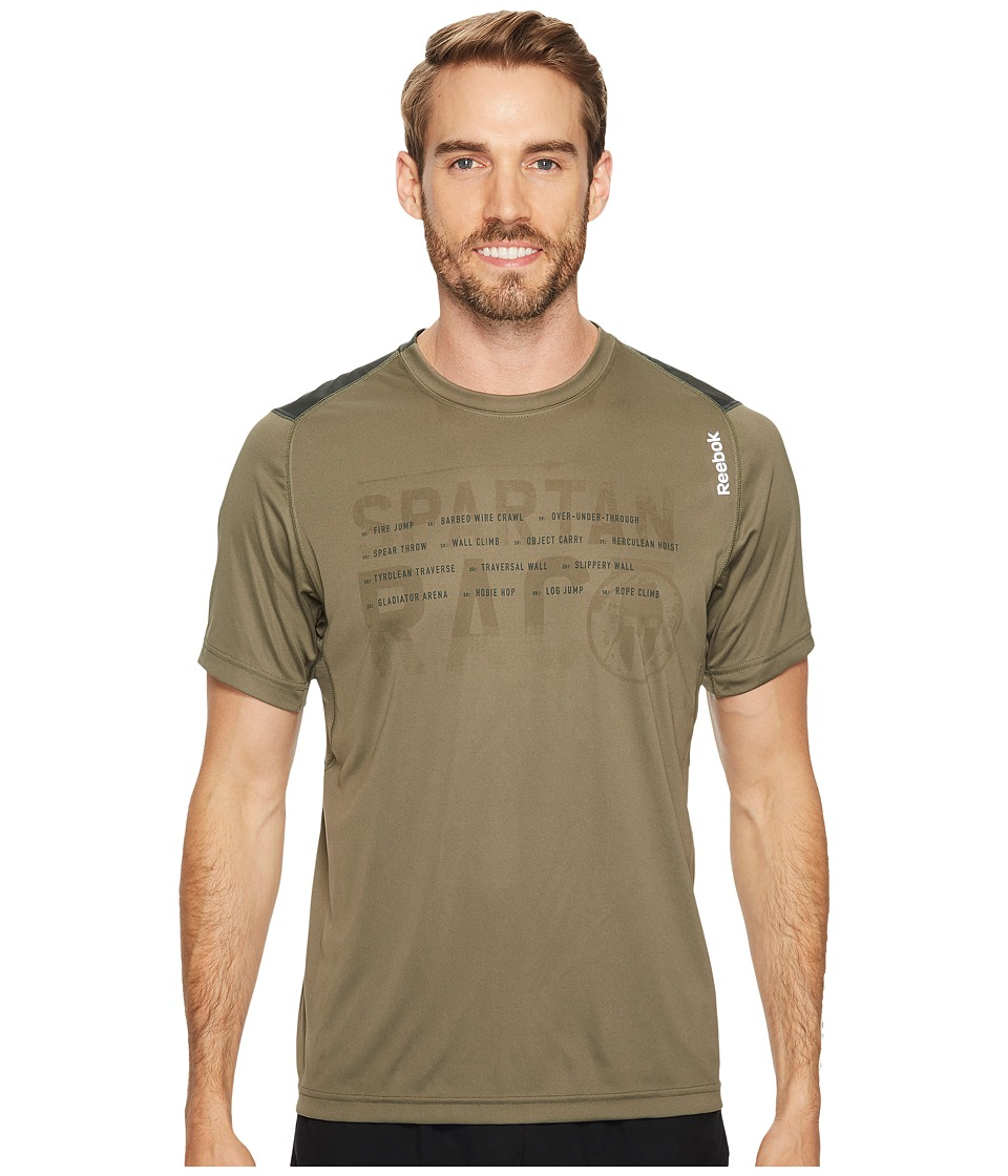 Reebok - Running Tech Tee Shirt (Modern Olive) Men's T Shirt