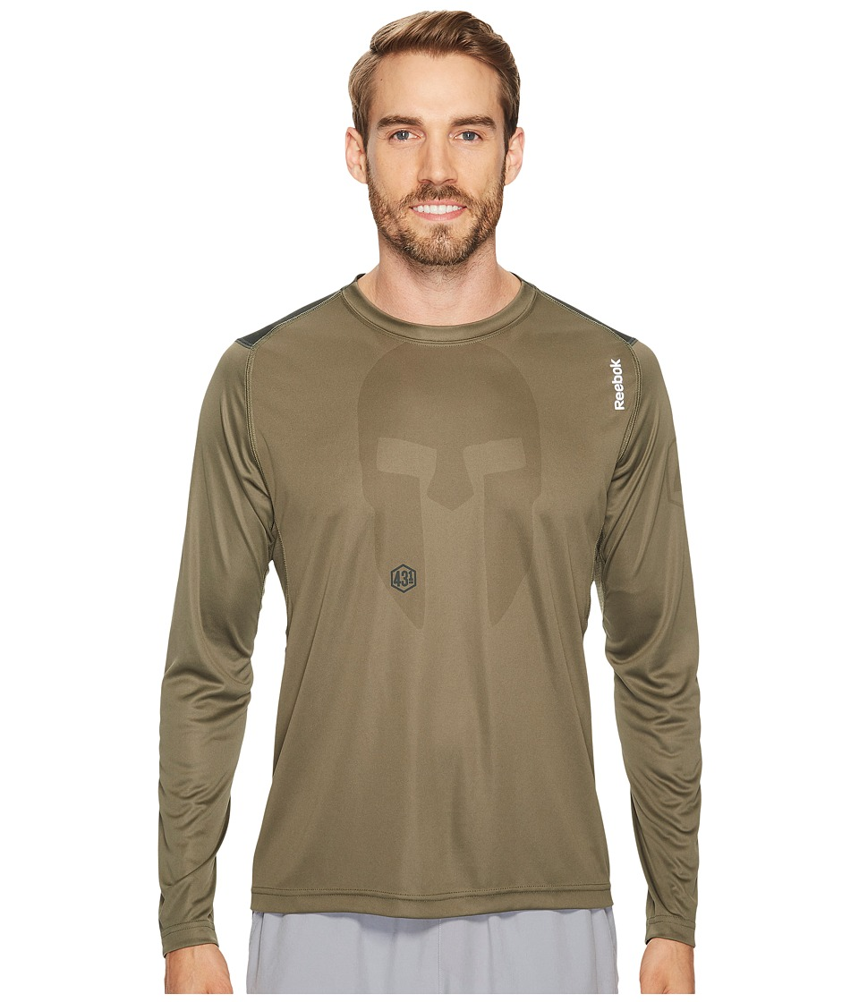 Reebok - Spartan Long Sleeve Tee (Green) Men's T Shirt