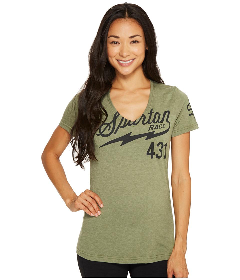 Reebok - Spartan Short Sleeve Tee (Canopy Green) Women's T Shirt