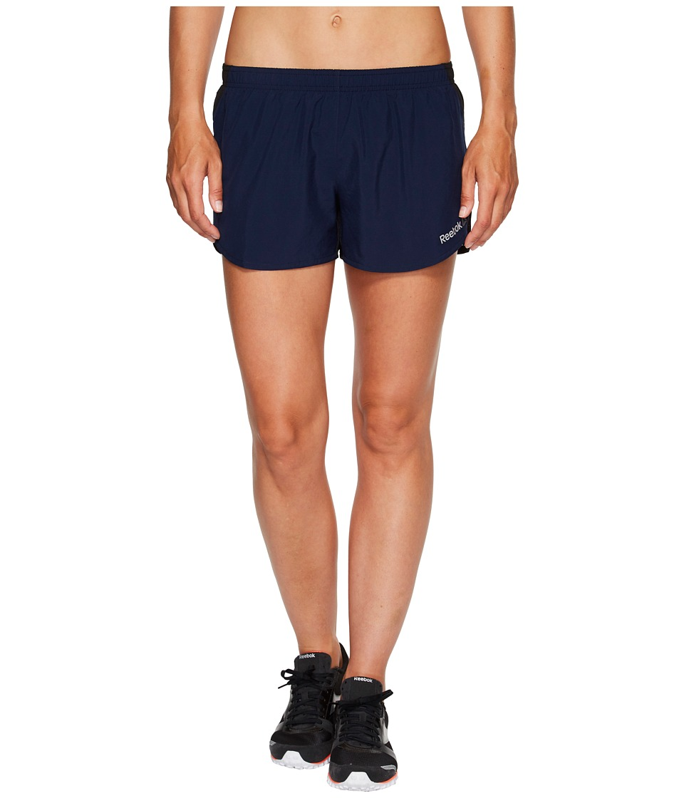 Reebok - Spartan Woven Shorts (Navy) Women's Shorts