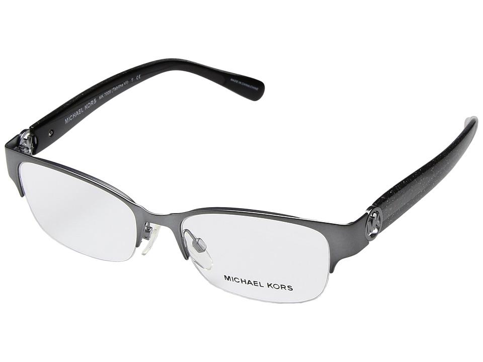 Michael Kors - 0MK7006 (Satin Gunmetal/ Black Glitter) Fashion Sunglasses