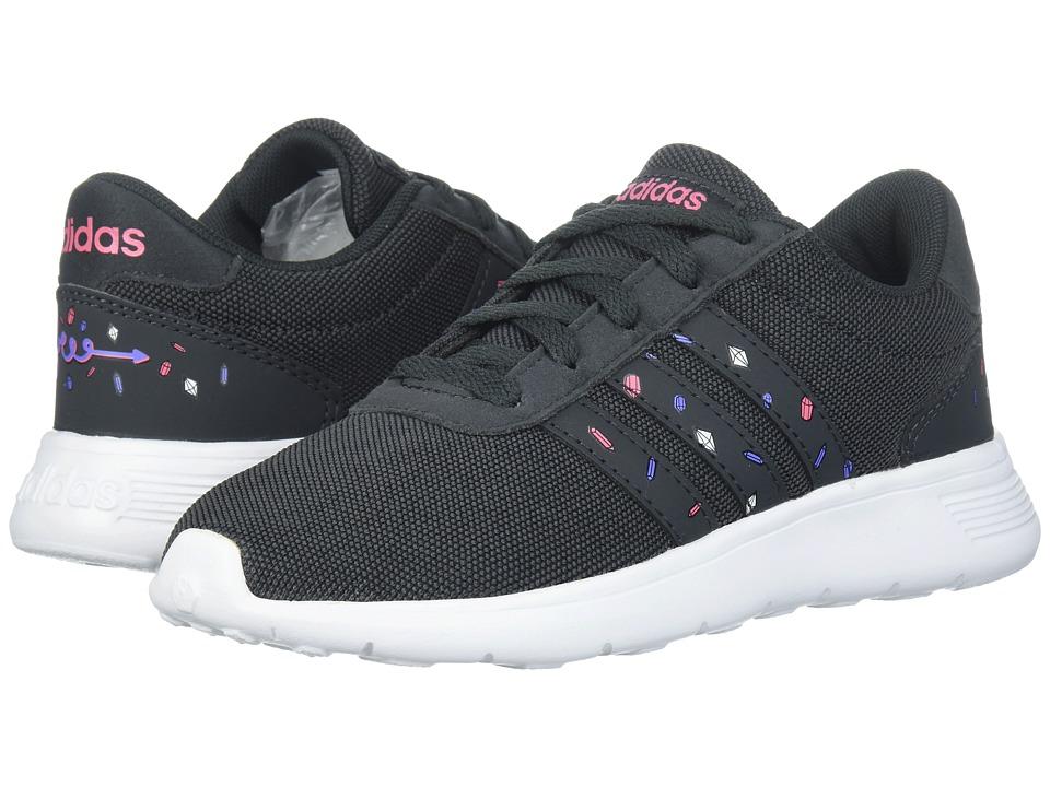 adidas Kids Lite Racer (Little Kid/Big Kid) (Black/Carbon/Chalk Pink) Kids Shoes