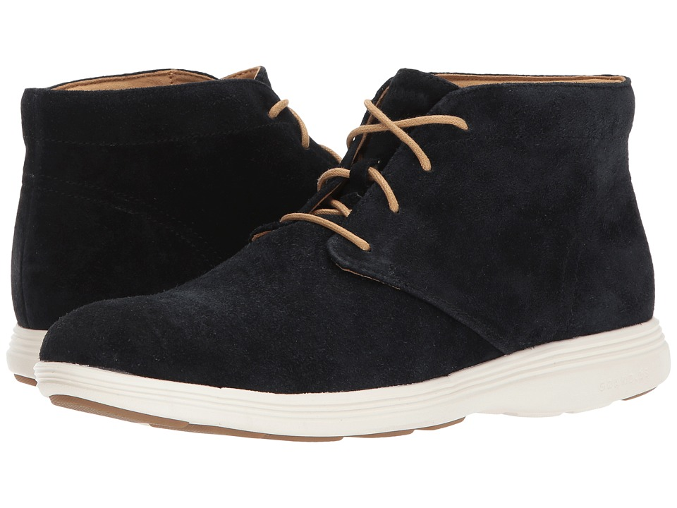 Cole Haan Grand Tour Chukka (Black Suede/Ivory) Men