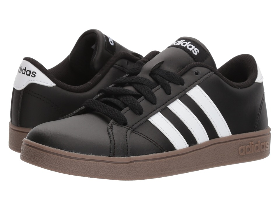 adidas Kids Baseline (Little Kid/Big Kid) (Black/White/Gum) Kids Shoes