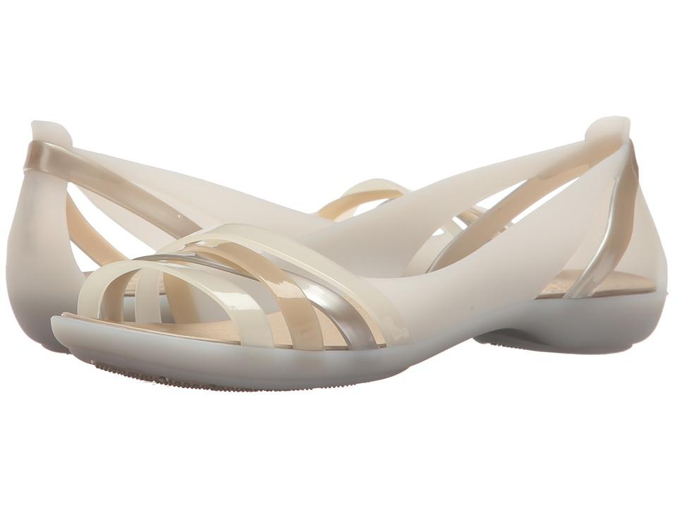 Crocs Isabella Huarache 2 Flat (Oyster/Cobblestone) Women
