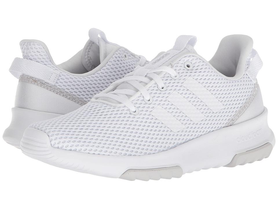 adidas Cloudfoam Racer TR (White/White/Silver) Women