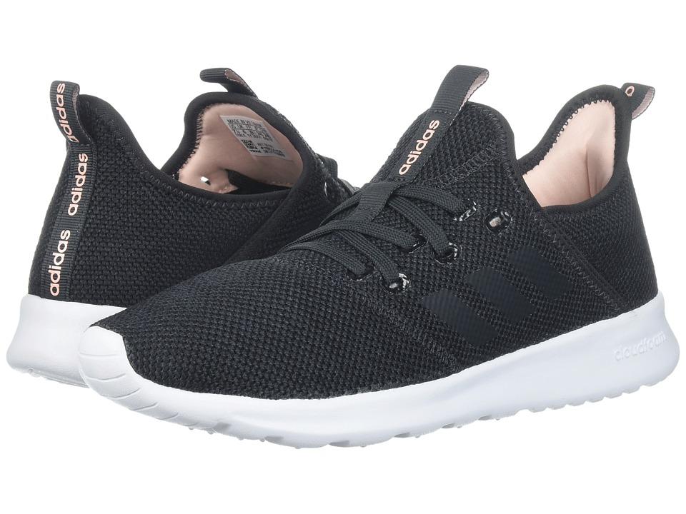 adidas Cloudfoam Pure (Carbon/Carbon/Haze Coral) Women