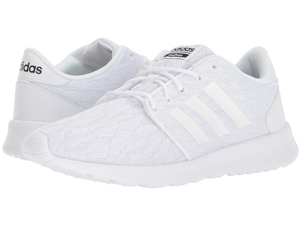 adidas Cloudfoam QT Racer (White/White/Black) Women