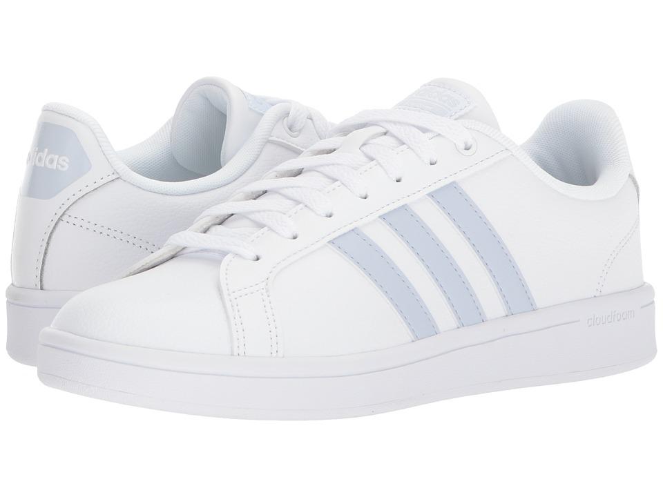 adidas Cloudfoam Advantage Stripe (White/White/Aero Blue) Women