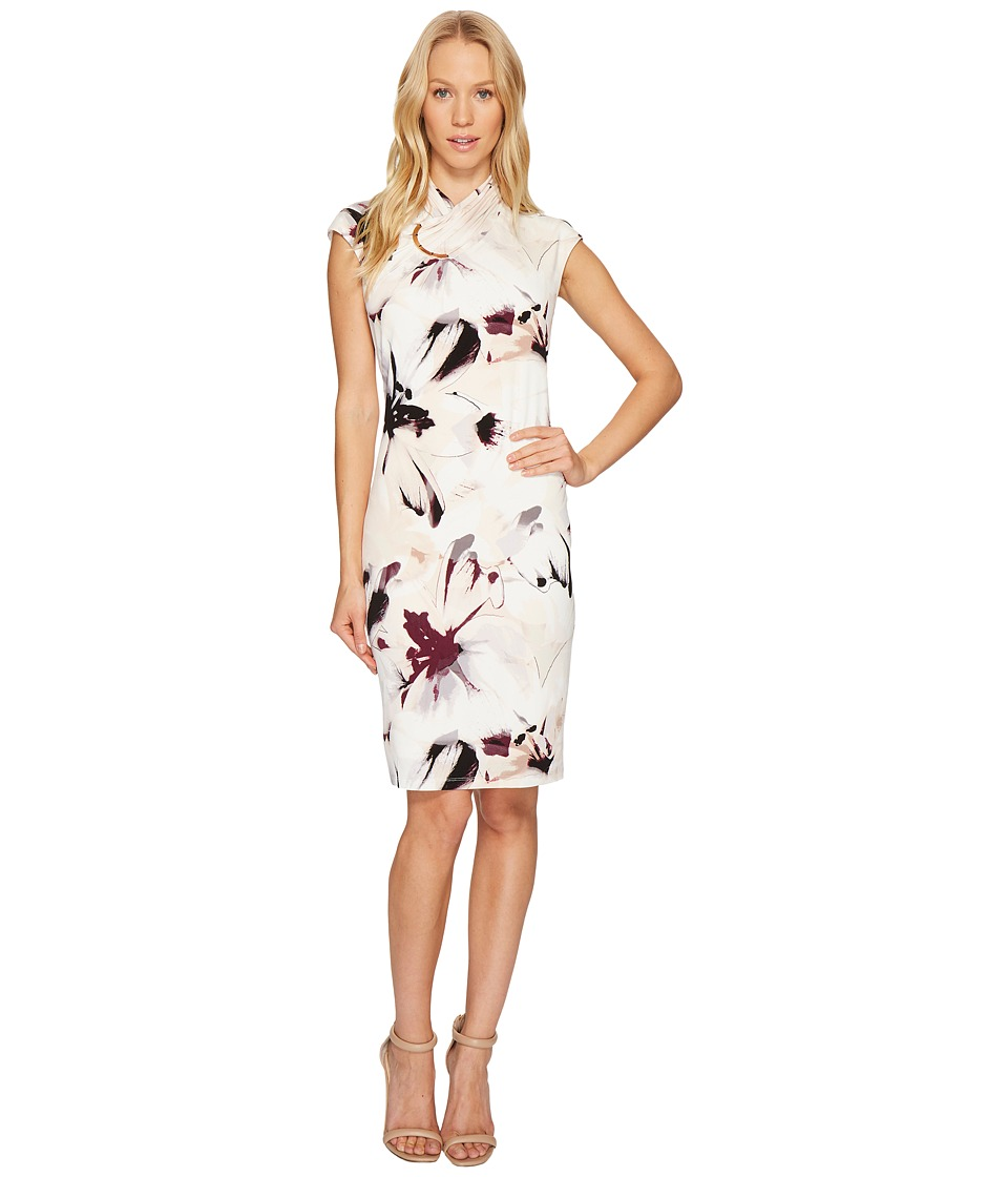 Calvin Klein Printed High Neck Dress