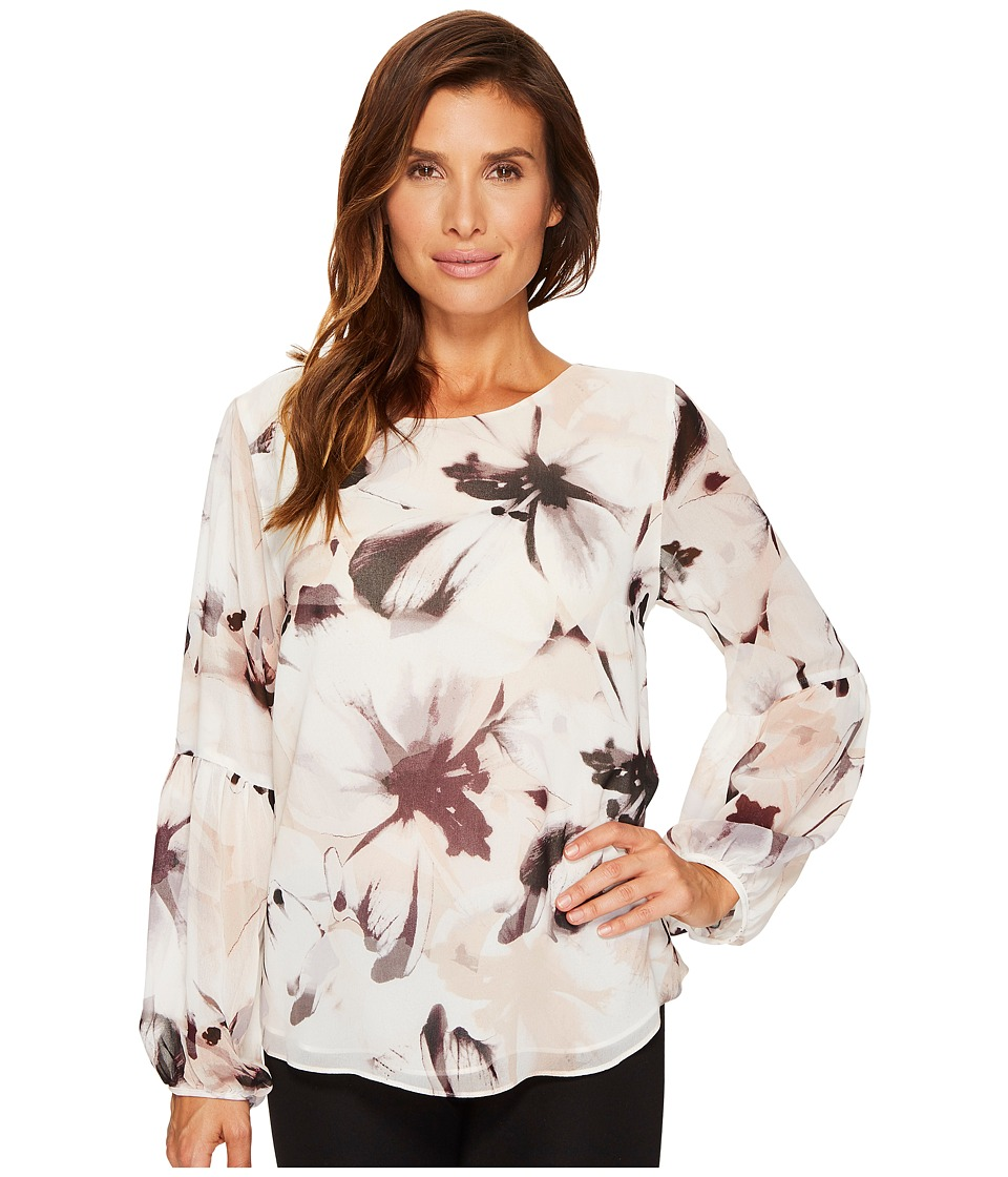 Calvin Klein - Peasant Sleeve Blouse (Blush Combo) Women's Blouse