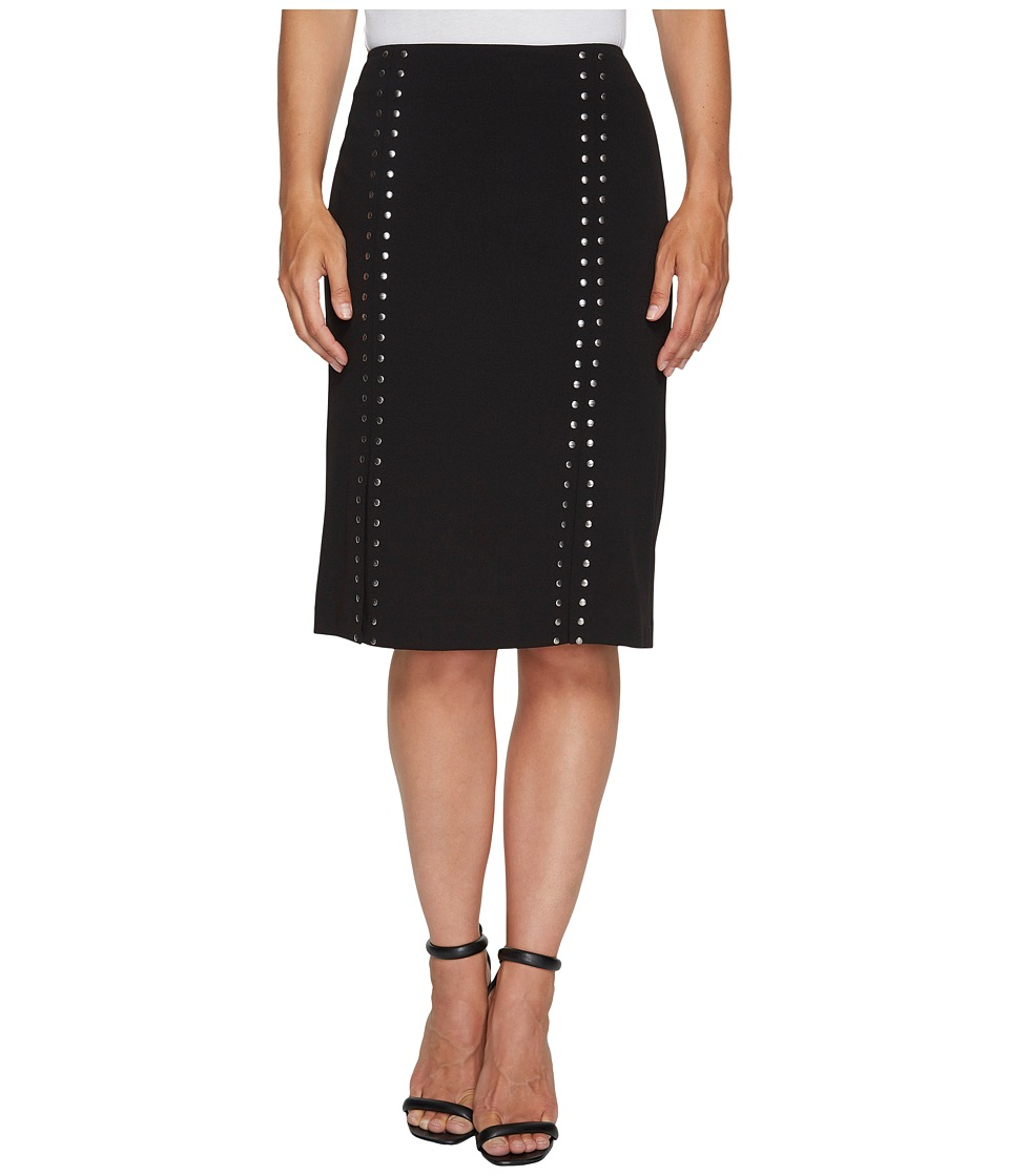 Calvin Klein Pencil Skirt with Studs (Black) Women