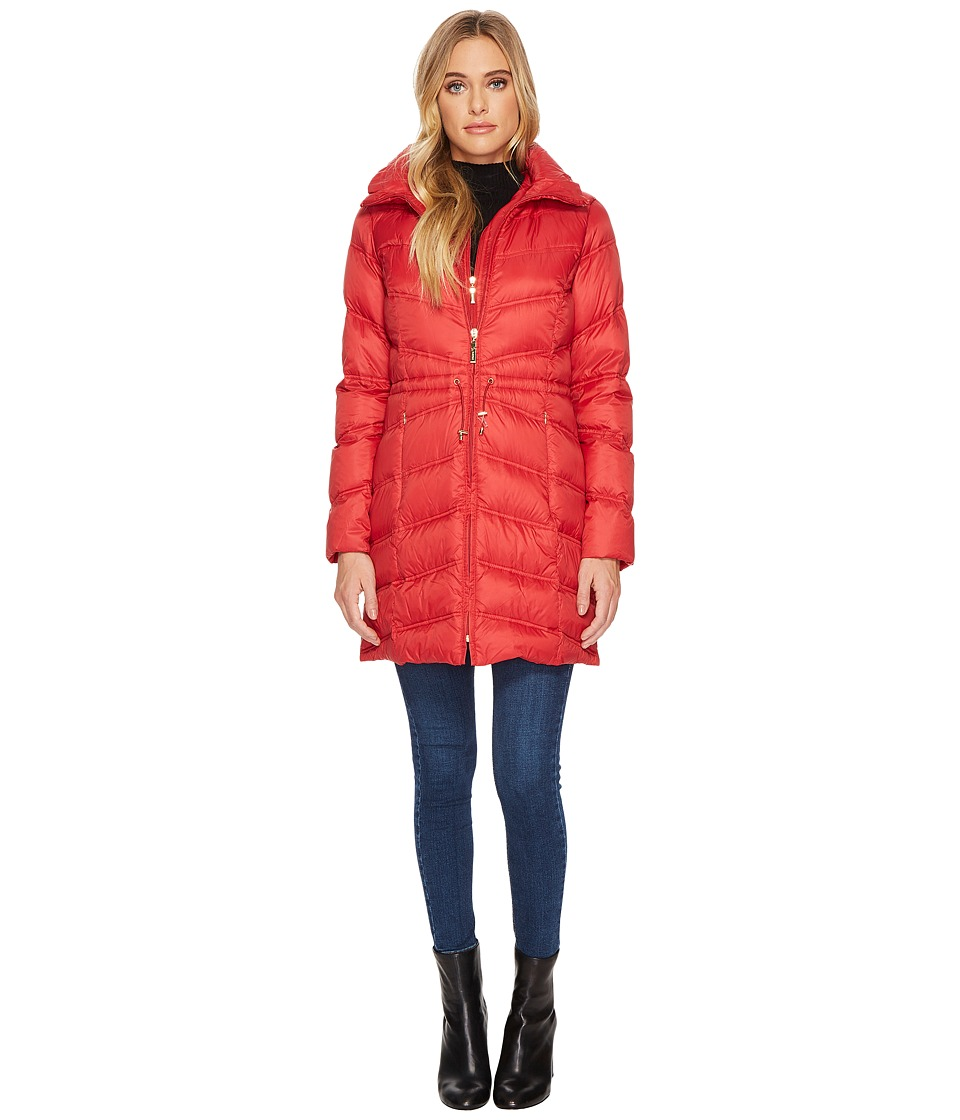 Ellen Tracy - Packable Down Jacket (Lipstick) Women's Coat