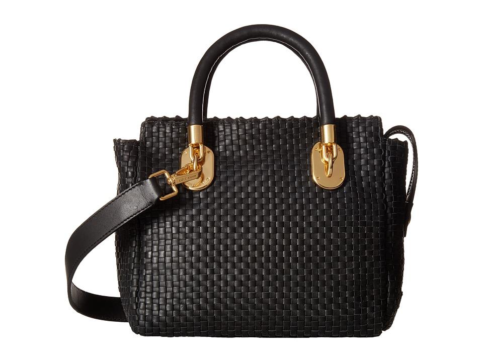 Cole Haan - Benson II Woven Small Square Tote (Black) Tote Handbags