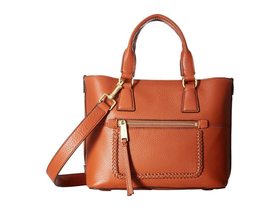 Cole Haan - Celia Small Tote (Brandy Brown) Tote Handbags