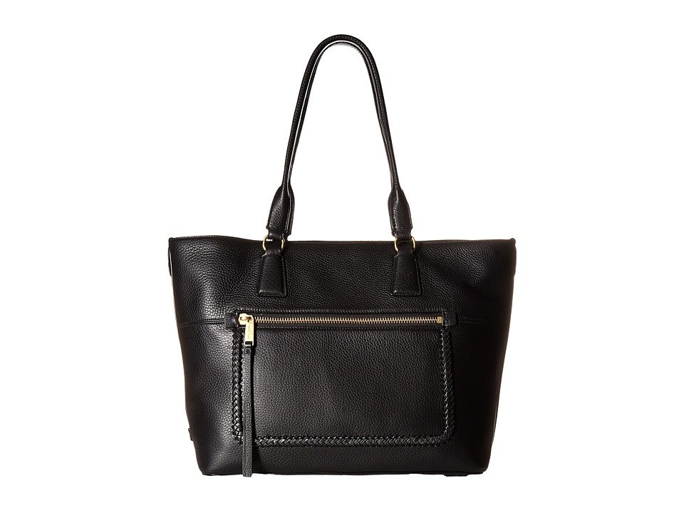 Cole Haan - Celia Medium Zip Top Tote (Black) Tote Handbags
