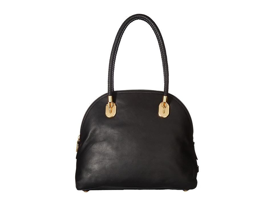 Cole Haan - Benson II Dome Satchel (Black) Satchel Handbags