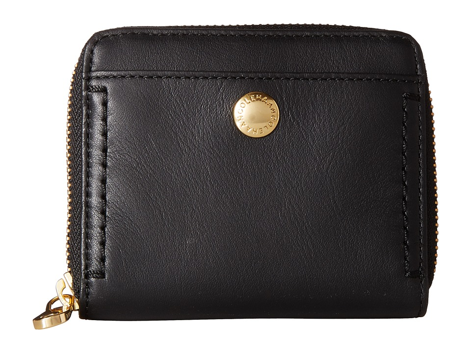 Cole Haan - Benson II Zip Around Wallet (Black) Wallet Handbags