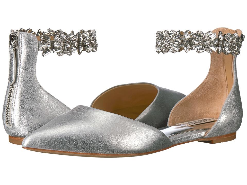 Badgley Mischka Morgen II (Silver Metallic Suede) Women
