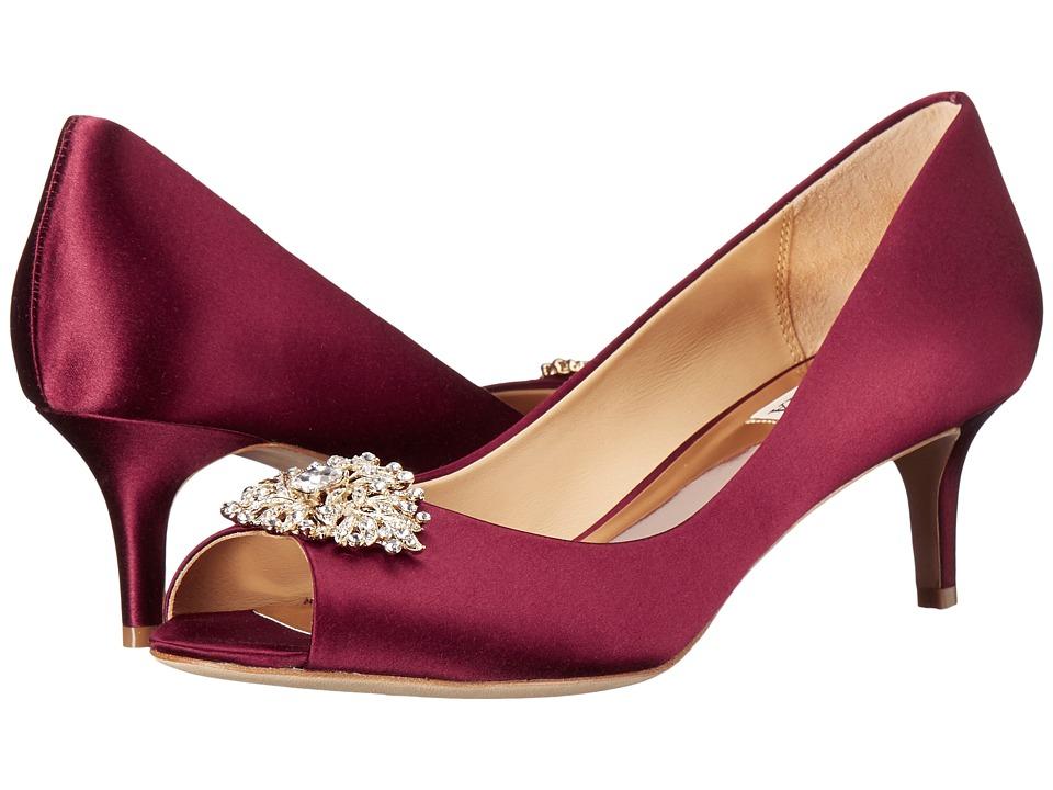 Badgley Mischka Layla (Burgundy Satin) High Heels