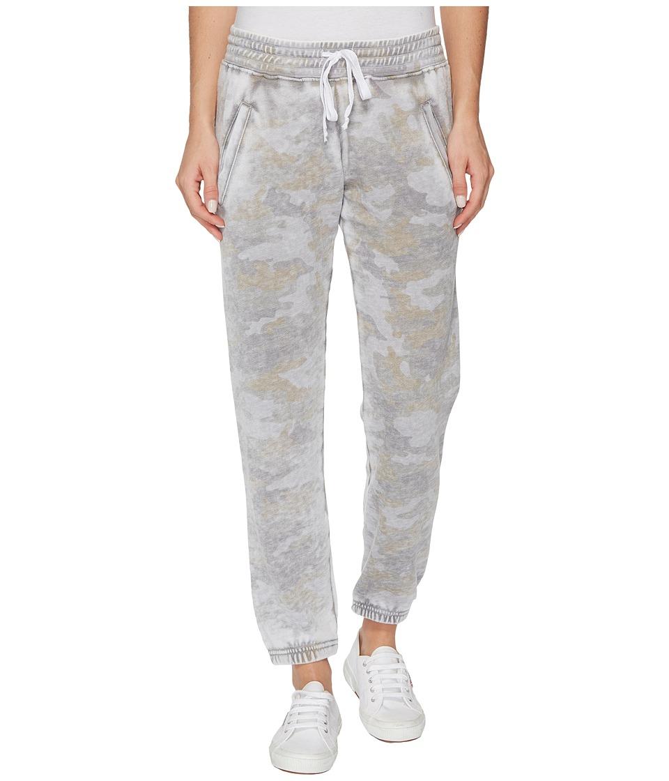 Allen Allen - Camo Jog Pants (Pale Grey) Women's Casual Pants