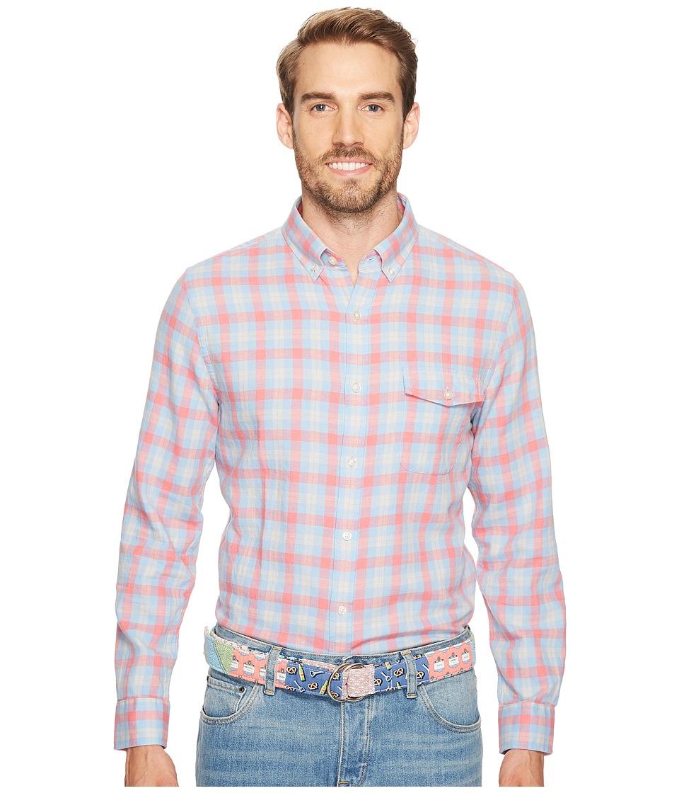 Vineyard Vines - Hullman Point Plaid Slim Crosby (Mai Tai) Men's T Shirt