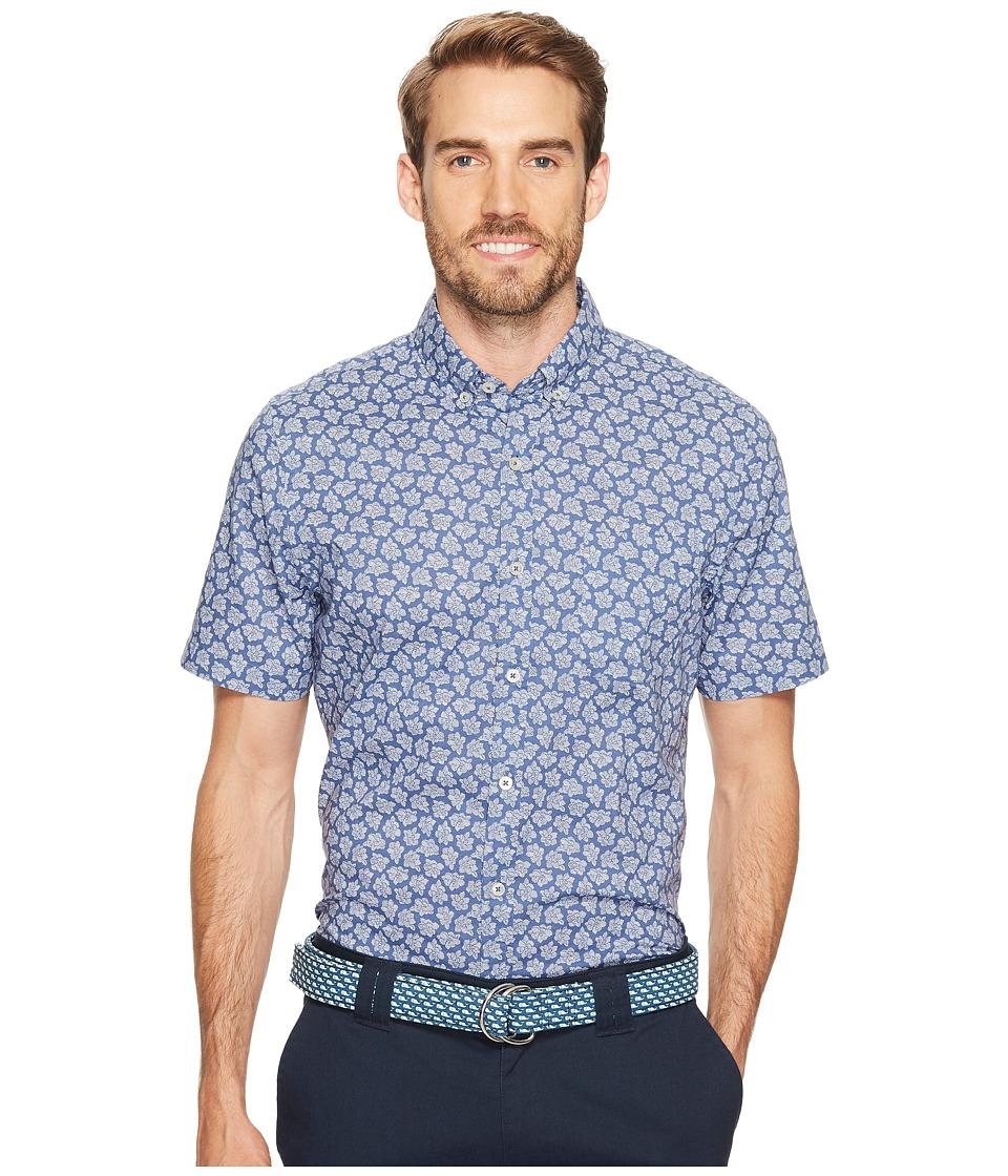 Vineyard Vines - Short Sleeve Floral Sketch Slim Murray (Flag Blue) Men's T Shirt